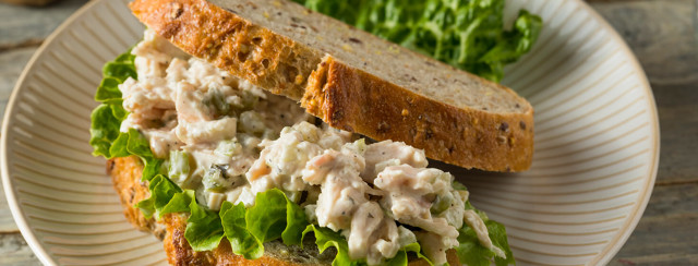 Mediterranean Chicken Salad Sandwich image