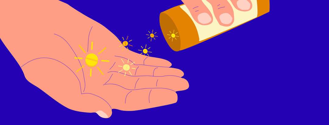 An adult is shaking a pill bottle from one hand to the other. The yellow pills are in the shape of tiny suns.