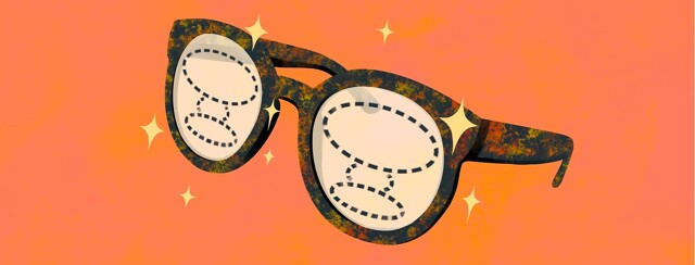 alt=a plastic frame pair of glasses with progressive lenses sparkle with newness